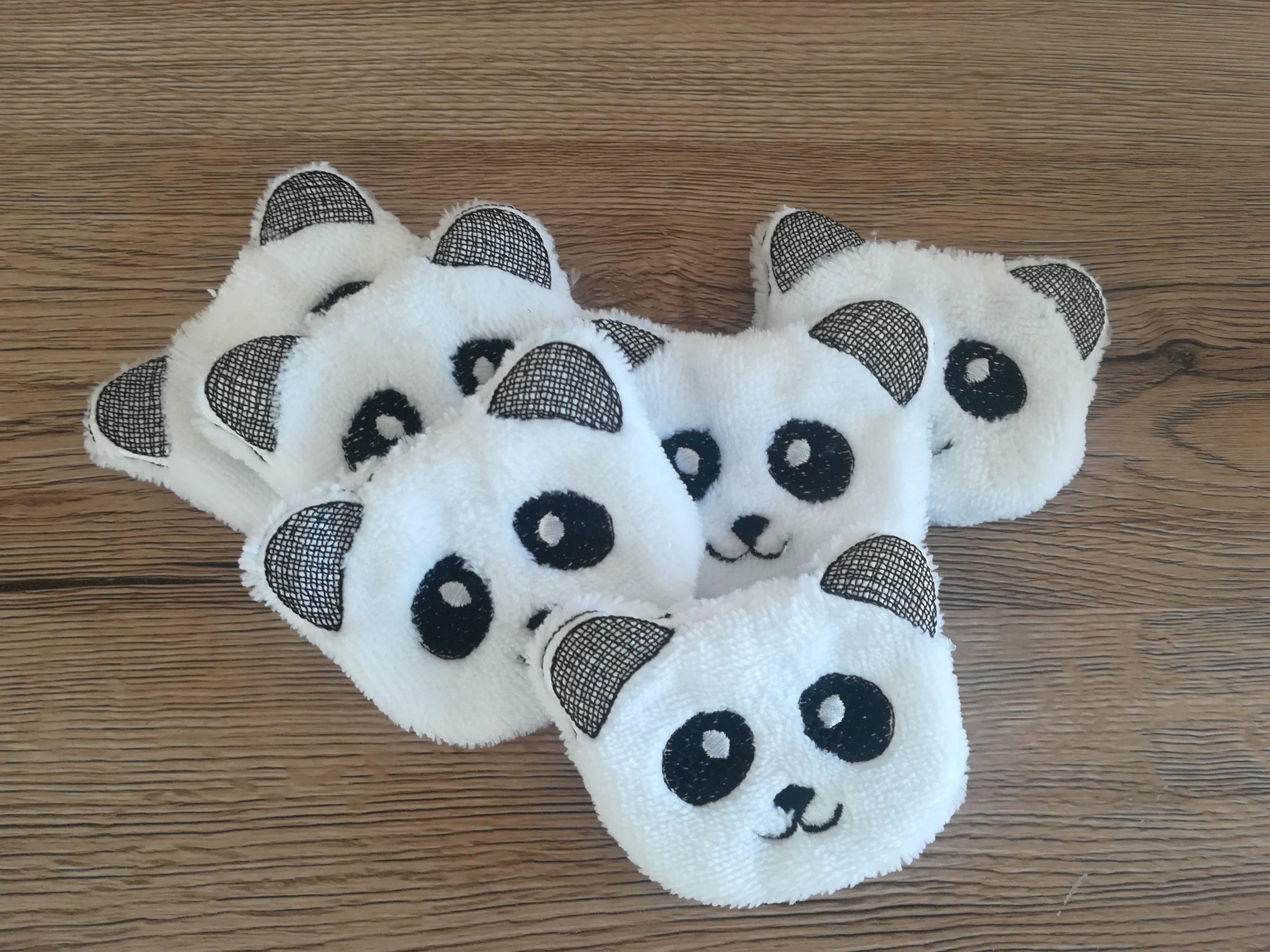 Cotons démaquillants Panda en microfibre bambou Oeko-Tex