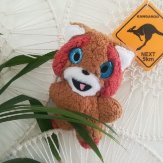 Photo principale Box carton broderie machine doudou panda roux ITH